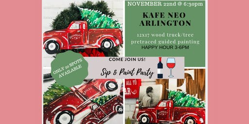 Wood Truck & Tree Paint & Sip @ Kafe Neo Arlington