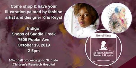 Live Fashion Illustrations with Kris Keys & Indigo benefiting St. Jude tickets