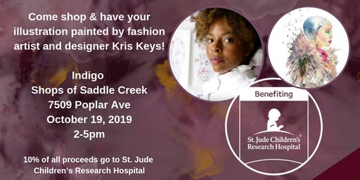 Live Fashion Illustrations with Kris Keys & Indigo benefiting St. Jude