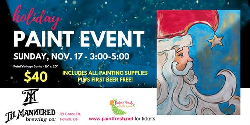 Holiday Paint Event