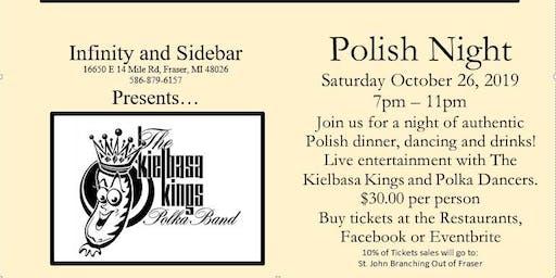 Polish Night Out at the Infinity with Kielbasa Kings