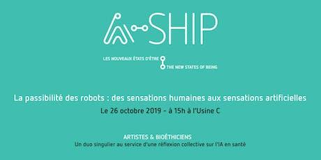 Passibilité des robots:des sensations humaines aux sensations artificielles billets