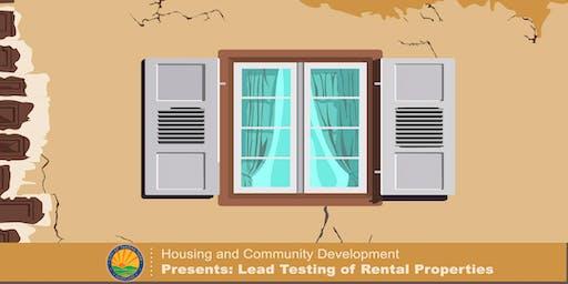 Lead Testing of Rental Properties