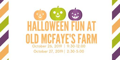 Halloween Fun at Old McFaye's Farm
