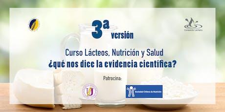 Curso, Lácteos, Nutrición y Salud  ¿Qué nos dice la evidencia científica? entradas