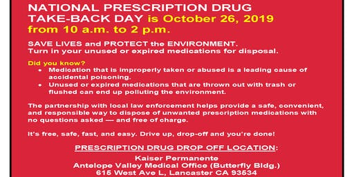 National Prescription Drug Take Back Day