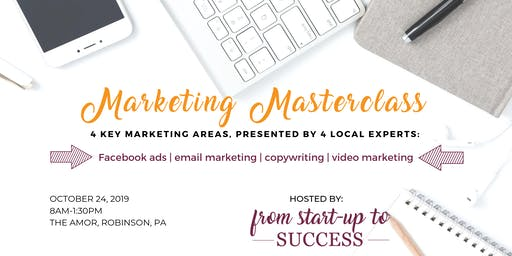 Marketing Masterclass Hosted by From Start-Up to Success