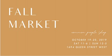Fall Market | Small Maker Goods @ Common People Shop tickets