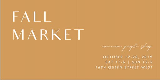 Fall Market | Small Maker Goods @ Common People Shop