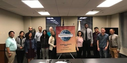Glendale Heights Area Toastmasters 10 year Anniversary Celebration