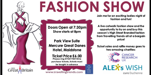 Charity Fashion Show in aid of Cancer Research & Alex's Wish