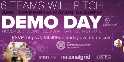 DEMO DAY: Fall 2019 AFRL Commercialization Academy