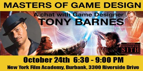 Masters of Game Design Speaker Series w/ Tony Barnes tickets