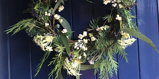 Christmas Door Wreath Workshop , festive fun with seasonal refreshments