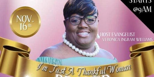 I Am Just A Thankful Woman Prayer Breakfast