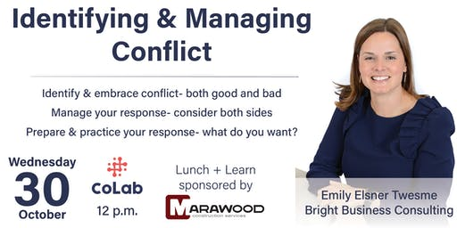 Lunch + Learn at CoLab: Identifying & Managing Conflict
