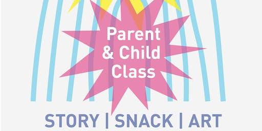 Pop Pop Parent and Child Art Class