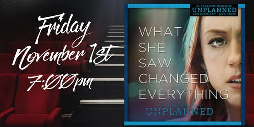 """Movies at Wellspring """"UNPLANNED"""" Friday November 1st at 7:00pm"""