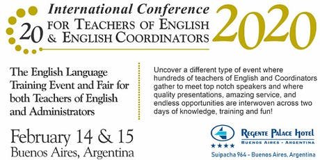 20th International Conference for Teachers of English & English Coordinators entradas