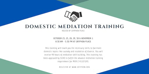 Domestic Mediation and Domestic Violence Screening Training