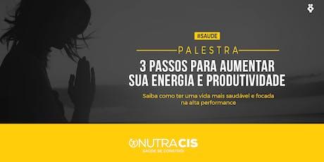 [BELO HORIZONTE/MG] 3 passos para aumentar sua energia e produtividade - 17 de Outubro ingressos
