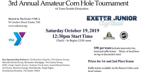 The 3rd Annual Exeter Jr. Softball Amateur Corn Hole Tournament tickets