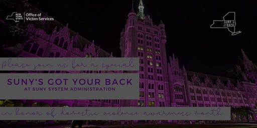 SUNY's Got Your Back At SUNY Plaza
