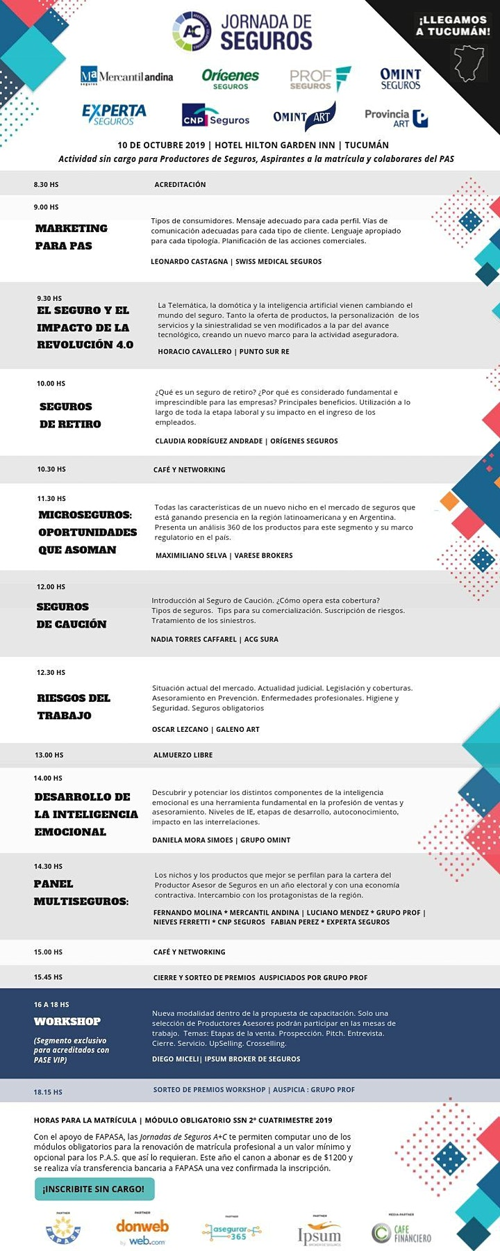 Imagen de Jornada de Seguros A+C Tucumán 2019
