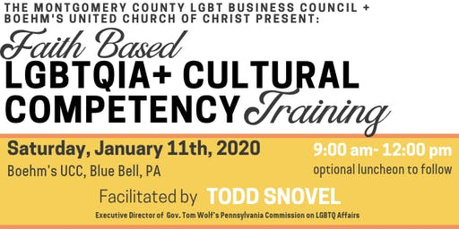 Interfaith LGBTQIA+ Cultural Competency Training