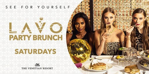 LAVO Party Brunch-FREE Entry & Drinks for Ladies @ Palazzo, Las Vegas 12.21