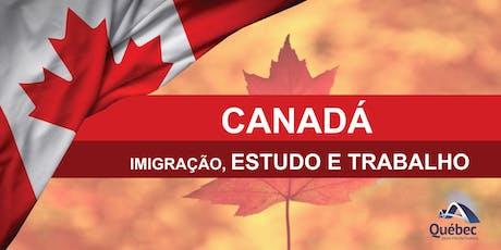 PALESTRA | SHOPPING CURITIBA - Imigração Canadense - ESTUDE, TRABALHE E EMIGRE! ingressos