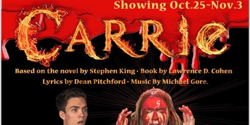 CARRIE - the Broadway Rock Musical - Oct 25 - Nov 3 - at Butte College