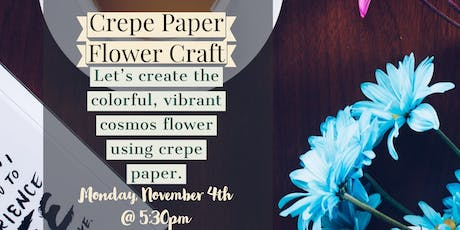 Crepe Paper Flower Craft tickets