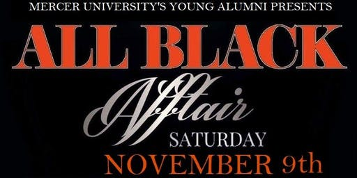 Mercer University Homecoming 2019 ALL BLACK Affair