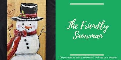Slab Snowman Painting