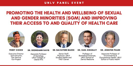 Panel: Promoting the Health & Wellbeing of Sexual and Gender Minorities