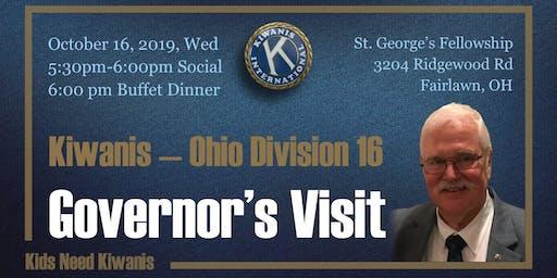 Kiwanis Division 16 Governor's Visit