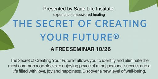Free Seminar on how to take control of your life