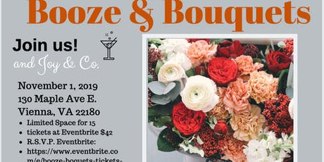 BOOZE & BOUQUETS tickets