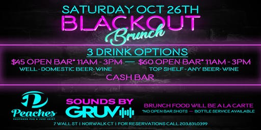 Black Out Brunch Party at Peaches Southern Pub & Juke Joint
