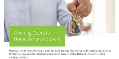Opening Doors To  Homeownership Event tickets