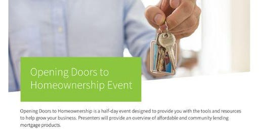 Opening Doors To  Homeownership Event