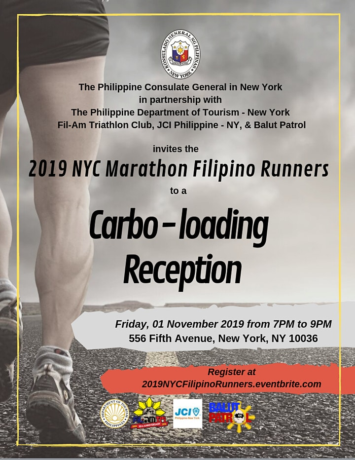 Carbo-loading Reception for 2019 NYC Marathon Filipino Runners image
