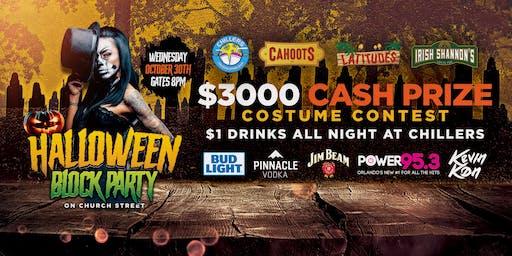 Church Street Halloween Block Party | $3,000 Cash Prize | $1 Drinks