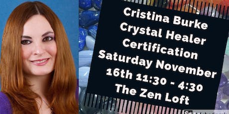 Cristina Burke - Crystal Healer Certification tickets