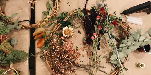 Autumn Wreath Making with Glory Warner from Laurel Botanicals