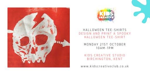 Halloween Tee-Shirt Printing - Children's Workshop