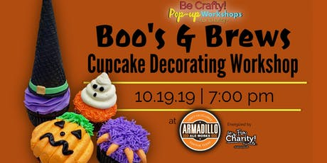 Be Crafty! Pop-up: Boo's and Brews Cupcake Decorating Workshop at Armadillo Ale Works tickets