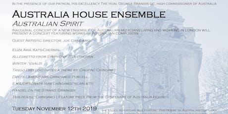 Australian Spirit | Australia House Ensemble debut at Australia House tickets