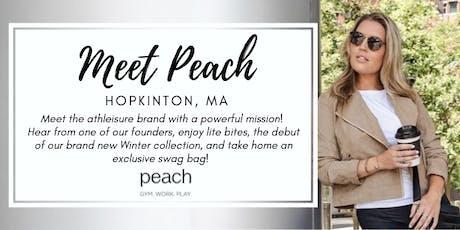Meet Peach   Hopkinton, MA tickets